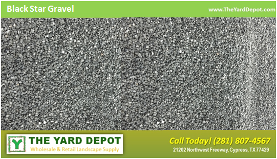 Black Star Gravel - The Yard Depot - Houston Landscape Wholesale Supplier