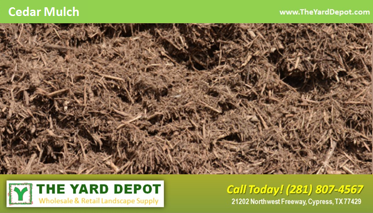 Cedar Mulch TheYardDepot.com Houston Landscape Supplier | Landscape Supplier Houston
