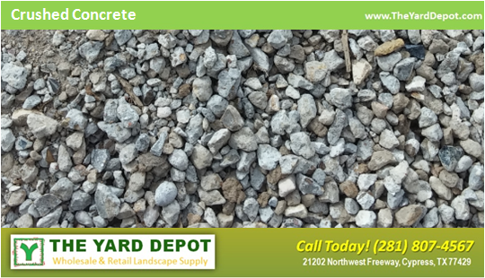 Crushed Concrete - The Yard Depot - Wholesale Landscape Supplier in Houston