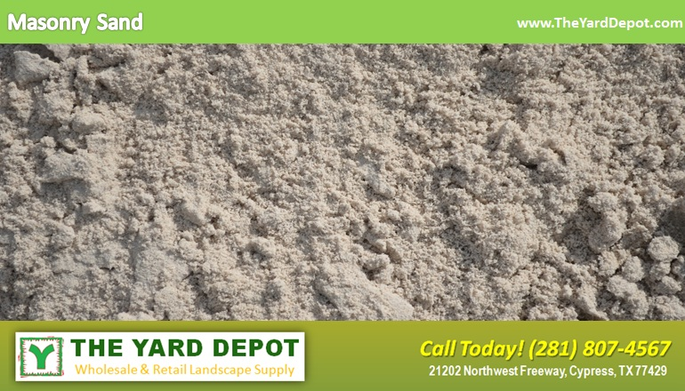 Masonry Sand TheYardDepot.com Houston Landscape Supplier | Landscape Supplier Houston