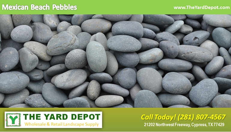 Mexican Beach Pebbles TheYardDepot.com Houston Landscape Supplier | www.TheYardDepot.com