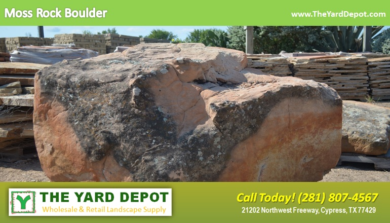 Moss Rock Boulder TheYardDepot.com Houston Landscape Supplier |  www.TheYardDepot.com - The Yard Depot The Yard Depot In Cypress Wholesale Landscape