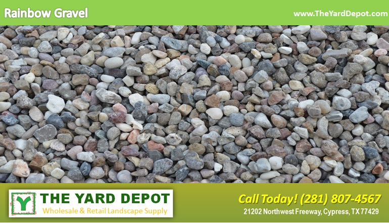 Rainbow Gravel TheYardDepot.com Houston Landscape Supplier | Landscape Supplier Houston