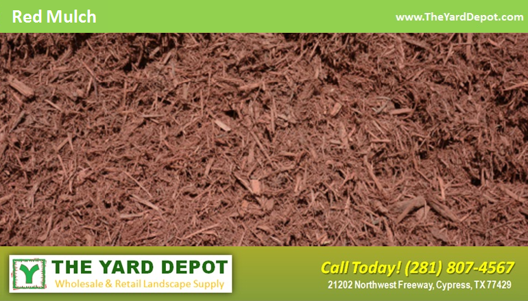 Red Harwood Mulch TheYardDepot.com Houston Landscape Supplier | Landscape Supplier Houston