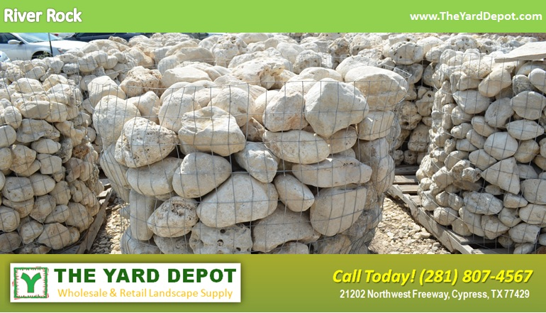 River Rock TheYardDepot.com Houston Landscape Supplier | www. - Landscape Rock The Yard Depot In Cypress Wholesale Landscape