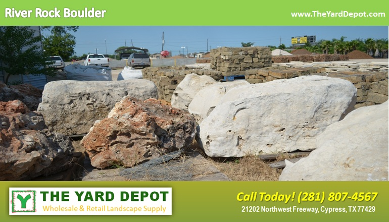 Landscape rock the yard depot in cypress wholesale for Landscaping rocks delivered