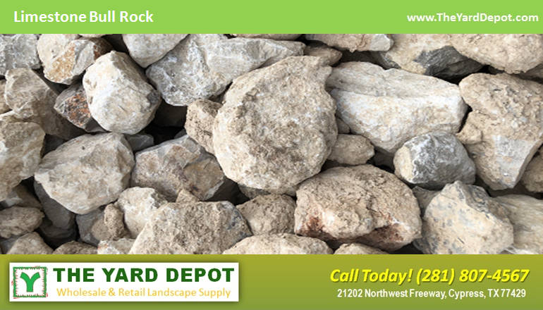Limestone Bull Rock - - The Yard Depot - Wholesale Landscape Supplier in Houston