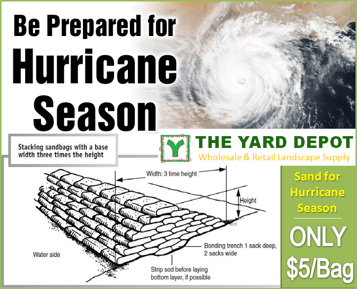Sand Bags for Hurrican Season $5 per bag - TheYardDepot.com
