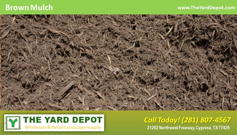 Brown Hardwood Mulch Theyarddepot Houston Landscape Supplier