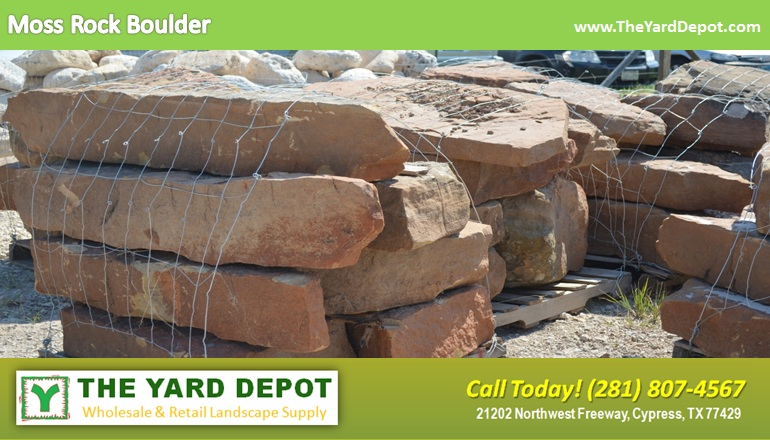 Moss Rock Boulder TheYardDepot.com Houston Landscape Supplier | www.TheYardDepot.com