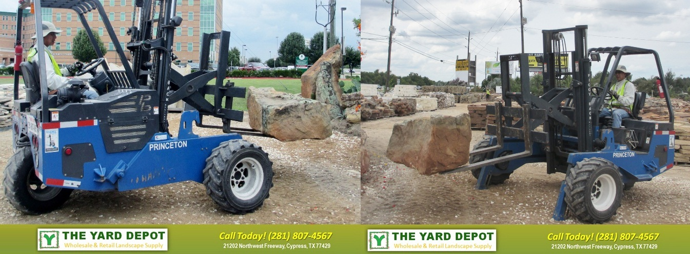 Setting boulder Houston | Houston Setting Stone | TheYardDepot.com | Houston Landscape Supplier | Landscape Supplier Houston